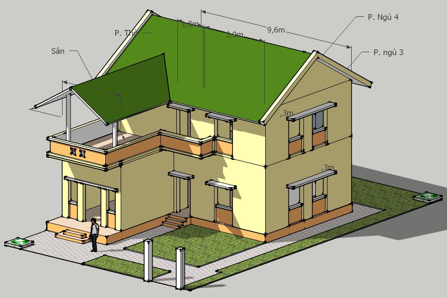 Tổng thể ngôi nhà