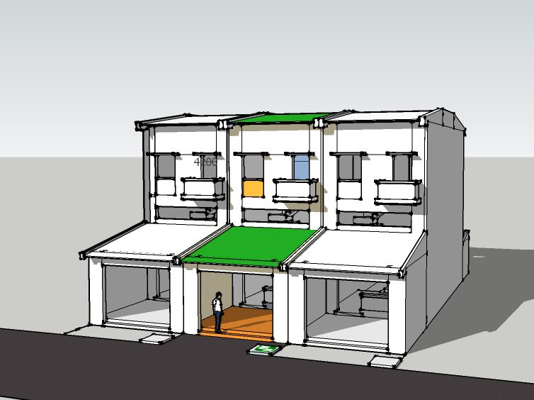 Dãy nhà xây cùng thiết kế